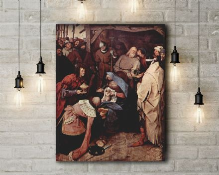 Pieter Bruegel: The Adoration of the Kings. Fine Art Canvas.